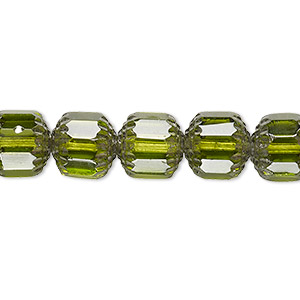 Czech Beads Glass Greens