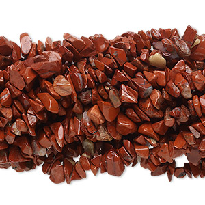 Bead, Red Jasper (natural), Medium Chip, Mohs Hardness 6-1/2 7. Sold Per Pkg (10) 36-inch Strands 1140PS
