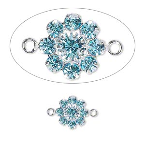 Links Swarovski Aquamarine