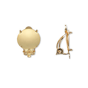 10 pairs of GOLD PLATED CLIP-ON earring findings