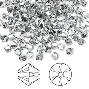 Swarovski ® Xilion 5328 Crystal Comet argent light 10-50 unid braguitas dif tamaños