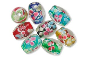 Bead, Lampwork Glass, Assorted Color, 16x12mm Oval. Sold Per Pkg 8