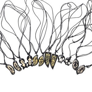 Necklace Mix, Resin Nylon Cord, Mixed Colors, Adjustable 16-20 Inches. Sold Per Pkg 12 1185JU