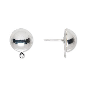 Ball and Half Ball Silver Plated/Finished Silver Colored