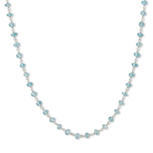 Other Necklace Styles Apatite Silver Colored