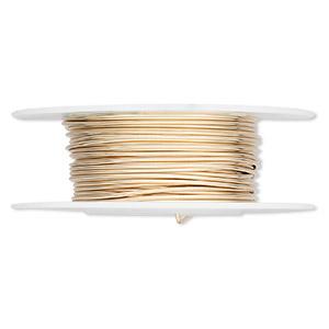 Wire 21 Gauge Round 12Kt Gold Filled 5 Feet