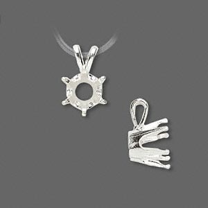 Pendant Settings Sterling Silver Silver Colored