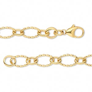 Chain, 14Kt Gold-filled, 6mm Twisted Oval, 18 Inches Lobster Claw Clasp. Sold Individually