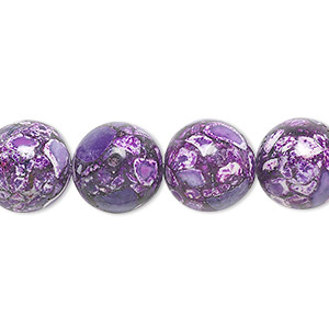 Beads Mosaic Stone Purples / Lavenders