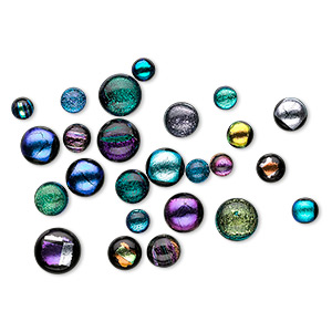 Cabochons Dichroic Multi-colored