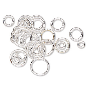 Open Jumprings Sterling Silver-Filled Silver Colored