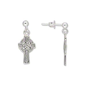 Earstud Earrings Sterling Silver Silver Colored