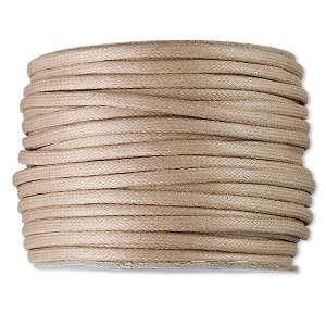 3 yd 2mm WAXED Cotton Cord Tan-CAMO High Quality Cord Made in the USA