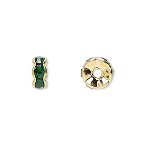 Spacer Beads Gold Plated/Finished Greens