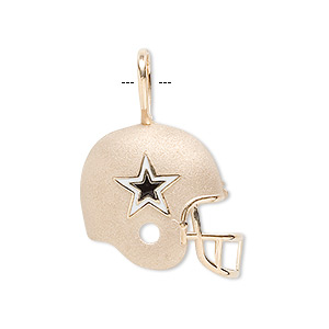 Pendant enamel and 14kt gold blue and white 21x21mm single pendant enamel and 14kt gold blue and white 21x21mm single sided nfl dallas cowboys helmet sold individually fire mountain gems and beads aloadofball Gallery