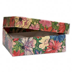 Cotton-filled Boxes Paper Multi-colored