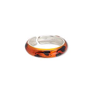 Sterling Silver Enameled BLACK /& WHITE ENAMEL Yin /& Yang TOE Ring Adjustable NEW
