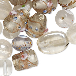 Beads Lampwork Glass Whites