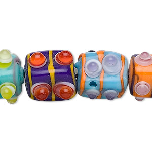 Beads Lampwork Glass Mixed Colors