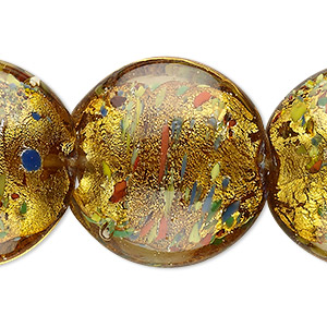 Beads Lampwork Glass Yellows