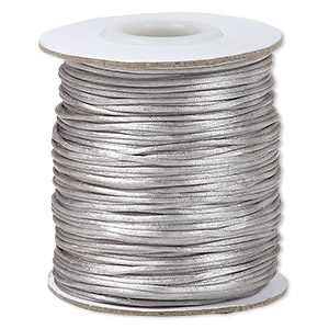 Cord Satin Silver Colored