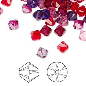 Bead, Swarovski® Crystals, Crystal Passions®, Passion, 6mm Xilion Bicone (5328). Sold Per Pkg 24 5328
