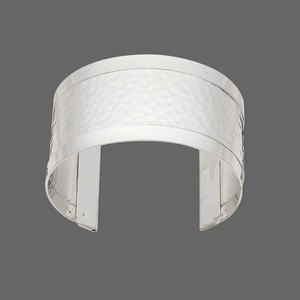 Cuff Bracelets Imitation rhodium-plated Silver Colored