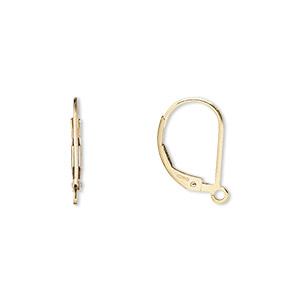 Leverback earring findings Gold-Filled Gold Colored