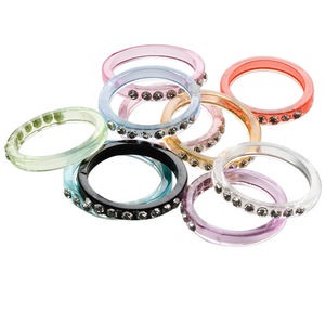 Finger Rings Acrylic Multi-colored