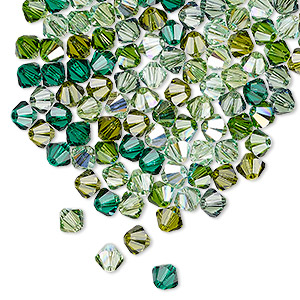 Bead, Swarovski® Crystals, Crystal Passions®, Ireland, 4mm Xilion Bicone (5328). Sold Per Pkg 144 (1 Gross) 5328