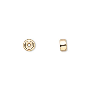 Spacer Beads Karat Gold Gold Colored
