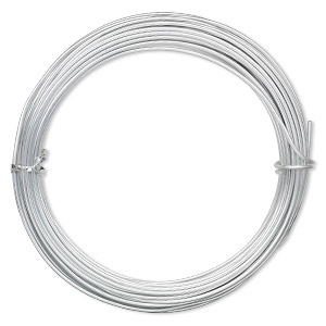 Wire-Wrapping Wire Aluminum Silver Colored