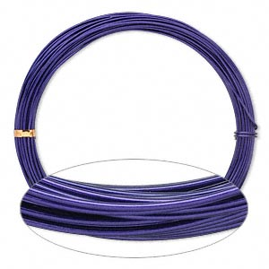 Wire, Painted Aluminum, Purple, Round, 14 Gauge. Sold Per Pkg 45 Feet
