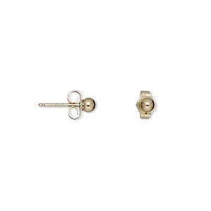 Earstud Earrings Gold-Filled Gold Colored