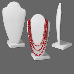 Necklace Displays Velvet Whites