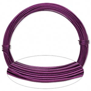 Wire, Painted Aluminum, Magenta, Round, 18 Gauge. Sold Per Pkg 45 Feet