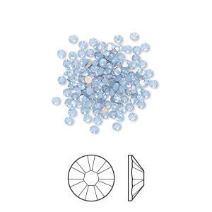 Flat-Back Swarovski Air Blue Opal