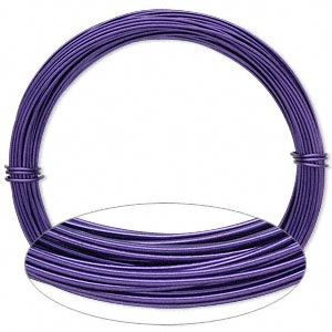 Wire, Painted Aluminum, Purple, Round, 18 Gauge. Sold Per Pkg 45 Feet