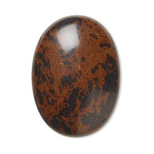 Natural Mahogany Obsidian cabochone 43\u00d727mm.44.20cts...1662#