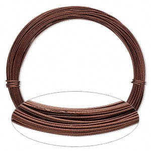 Wire, Painted Aluminum, Brown, Round, 20 Gauge. Sold Per Pkg 45 Feet