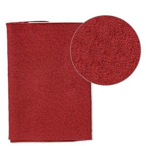 Scrap, Leather (dyed), Red, 9-1/4 X 3-1/2 Inch Square. Sold Individually