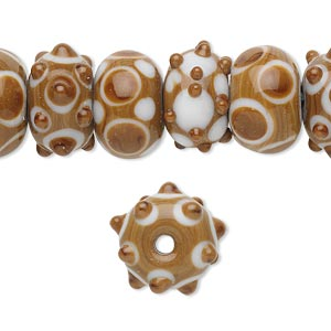 Beads Lampwork Glass Browns / Tans
