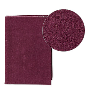 Scrap, Leather (dyed), Purple, 9-1/4 X 3-1/2 Inch Square. Sold Individually