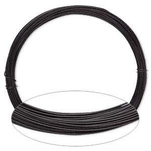 Wire, Painted Aluminum, Black, Round, 22 Gauge. Sold Per Pkg 45 Feet