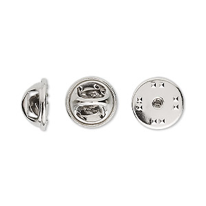 Tie Tac Findings Nickel Silver Colored