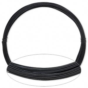 Wire, Painted Aluminum, Black, Round, 24 Gauge. Sold Per Pkg 45 Feet