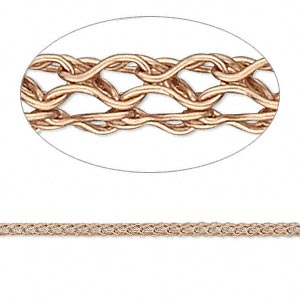 Knitted Wire Copper Copper Colored