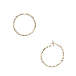 Hoop Earring Findings Gold-Filled Gold Colored