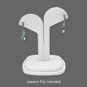 Earring Displays Leatherette Whites