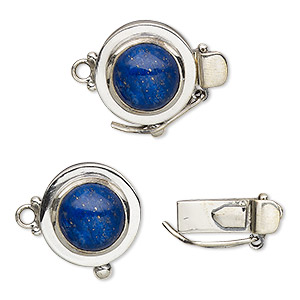 Box (Tab) Clasp Sterling Silver Blues